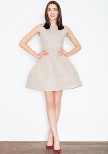 Sukienka Figl z okrągłym dekoltem bez rękawów mini