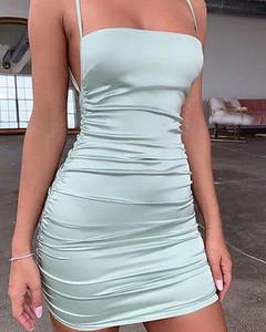 Miętowa sukienka Kendallme mini