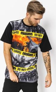 T-shirt Massdnm w młodzieżowym stylu z krótkim rękawem z bawełny