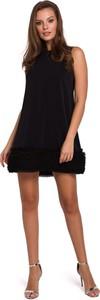 Sukienka Merg bez rękawów z okrągłym dekoltem mini