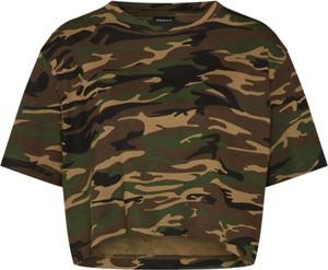 Zielony t-shirt Urban Classics z bawełny