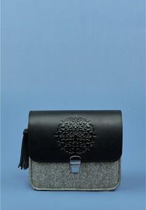 Czarna torebka Blanknote średnia na ramię