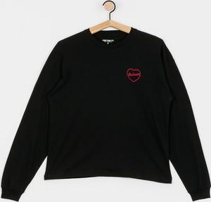 Czarna bluzka Carhartt WIP z okrągłym dekoltem z długim rękawem