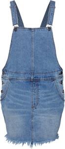 Sukienka Billabong mini dopasowana z jeansu