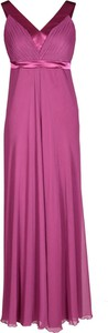 Sukienka Fokus maxi z dekoltem w kształcie litery v rozkloszowana