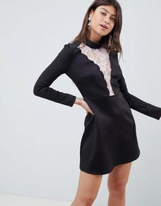 Sukienka Asos Design mini z długim rękawem z neoprenu