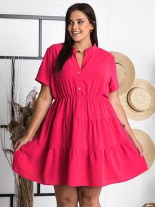 Sukienka KARKO z krótkim rękawem w stylu casual mini