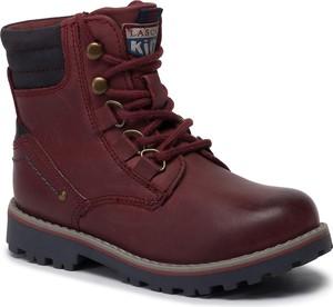 Czerwone buty dziecięce zimowe Lasocki Kids