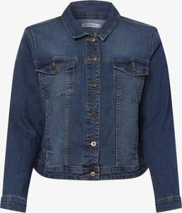 Niebieska kurtka ONLY Carmakoma krótka z jeansu