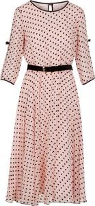 Sukienka Poza z tkaniny z długim rękawem