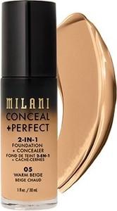 Milani, Conceal + Perfect 2-in-1 Foundation + Concealer, kryjący podkład do twarzy, 05 Warm Beige, 30 ml