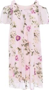 Bonprix rainbow sukienka z materiału w optyce jedwabiu, z wycięciami na ramionach