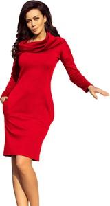 Sukienka NUMOCO z długim rękawem z tkaniny