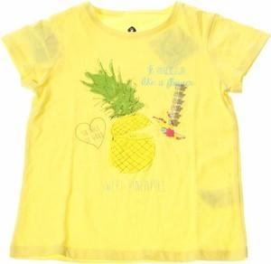 Żółta koszulka dziecięca Grain De Blé z krótkim rękawem