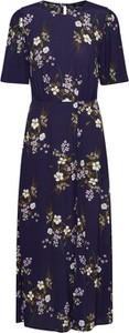 Niebieska sukienka New Look maxi koszulowa z krótkim rękawem