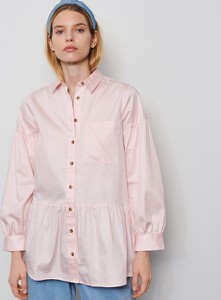 Różowa koszula Reserved z kołnierzykiem
