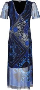Sukienka Desigual midi z krótkim rękawem