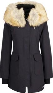 Czarna kurtka Calvin Klein długa w stylu casual