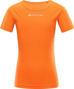 Pomarańczowa koszulka dziecięca Lavard z krótkim rękawem z tkaniny dla chłopców