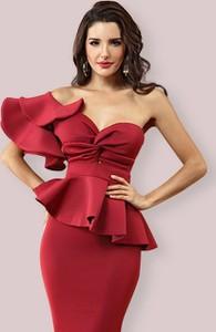 Czerwona sukienka Rare baskinka