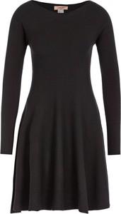Czarna sukienka Twinset z długim rękawem z okrągłym dekoltem w stylu casual