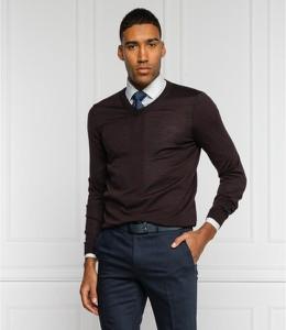 Brązowy sweter Hugo Boss w stylu casual