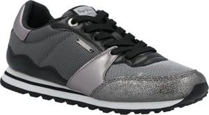 Buty sportowe Pepe Jeans sznurowane z płaską podeszwą
