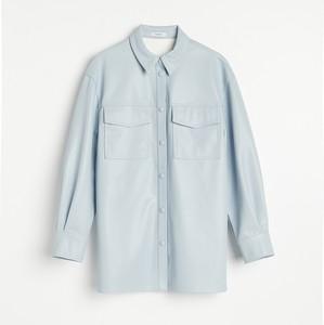 Niebieska koszula Reserved ze skóry