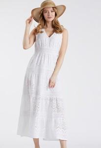 Sukienka Monnari z bawełny na ramiączkach z dekoltem w kształcie litery v