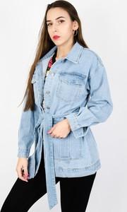 Kurtka Olika w młodzieżowym stylu z jeansu długa