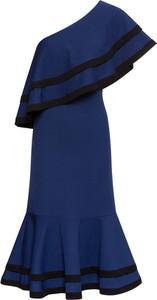 Sukienka bonprix BODYFLIRT boutique midi bez rękawów hiszpanka