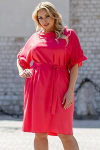 Sukienka KARKO mini z długim rękawem z tkaniny