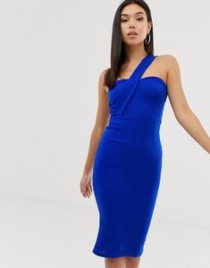 Niebieska sukienka Ax Paris dopasowana