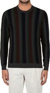 Czarny sweter Roberto Collina w stylu casual