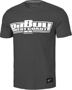 Czarny t-shirt Pit Bull West Coast z bawełny w młodzieżowym stylu