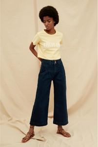 Niebieskie jeansy Trendyol z bawełny