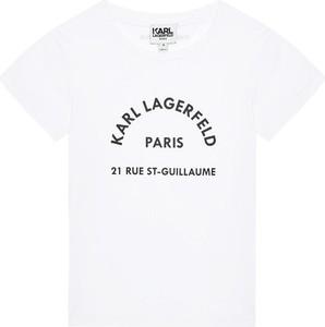 Koszulka dziecięca Karl Lagerfeld z bawełny