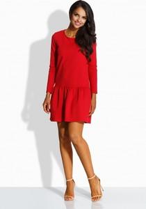 Czerwona sukienka Lemoniade mini z okrągłym dekoltem