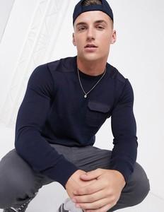 Granatowy sweter Brave Soul w stylu casual