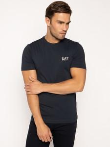 Granatowy t-shirt EA7 Emporio Armani z krótkim rękawem