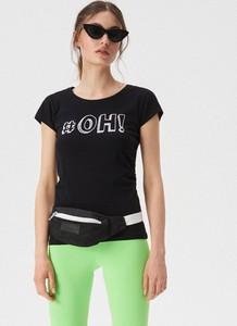 T-shirt Sinsay z okrągłym dekoltem z krótkim rękawem