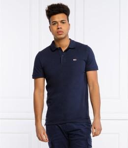Niebieska koszulka polo Tommy Jeans z krótkim rękawem w stylu casual
