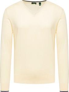 Żółty sweter Chervo z dzianiny