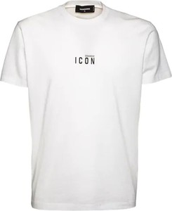 T-shirt Dsquared2 w stylu casual z krótkim rękawem z bawełny