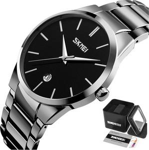 Zegarek męski SKMEI 9140 DATOWNIK silver/black