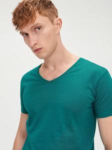 Turkusowy t-shirt Cropp