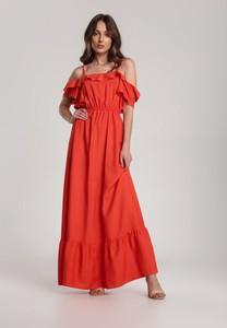 Pomarańczowa sukienka Renee maxi