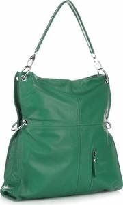Zielona torebka Vera Pelle duża na ramię