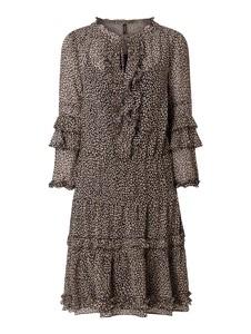 Brązowa sukienka Marc Cain w stylu casual prosta