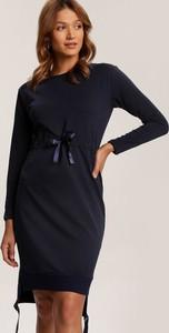 Granatowa sukienka Renee dopasowana mini w stylu casual